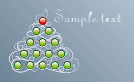 Techno fur-tree. Card of horizontal format to Christmas and New year Stock Image