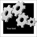 Techno gears background with sample text Royalty Free Stock Image