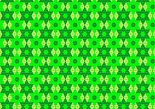 Techno Geometric Oriental Ornamental in Neon Green and Soft Yellow Colour Seamless Pattern Background Wallpaper Stock Image