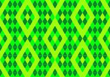 Techno Geometric Oriental Ornamental in Neon Green and Soft Yellow Colour Seamless Pattern Background Wallpaper Stock Images