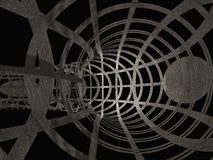 Techno Grunge Tunnel Cage Stock Image