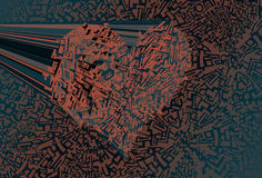 Techno heart Background Stock Image
