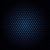 Techno-Hexagonkreisbeschaffenheitsvektor-Hintergrunddunkelheit Stockfotos