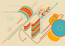 Techno Hintergrund Stockfoto