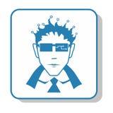 Techno icon - administrator. electronics. Techno icon - administrator. Alien, electronics, appliances stock illustration