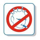 Techno icon - do not smoke. Alien. Electronics. Stock Images