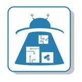 Techno icon - Storage. Storehouse. UFO. Techno icon - Storage. UFO. Electronics royalty free illustration