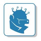Techno icon - video surveillance. Videography, alien vector illustration