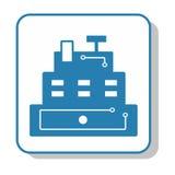 Techno-Ikone - Kasse kassierer Stockbild