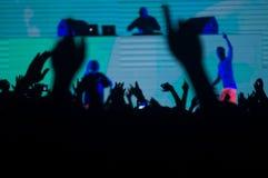 Techno koncert Obrazy Stock