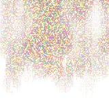 Techno kvadrerar bakgrund Arkivbild