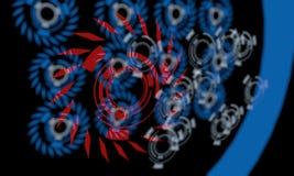 Techno-Linien des Hintergrundes, 3d Lizenzfreies Stockfoto