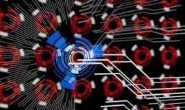 Techno-Linien des Hintergrundes, 3d Lizenzfreies Stockbild