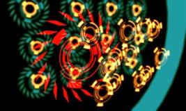 Techno linje av baackground, 3d Arkivbilder
