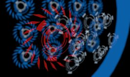 Techno linjer av bakgrund, 3d royaltyfri illustrationer