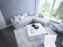 Techno living room interior Stock Photo