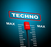 Techno Music Indicates Sound Track And Celebration Royalty Free Stock Photos