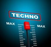 Techno Music Indicates Sound Track And Celebration Royalty Free Stock Photos