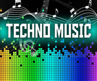 Techno Music Indicates Sound Track And Dance Royalty Free Stock Photography
