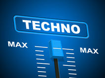Techno Music Represents Sound Track And Acoustic Stock Images