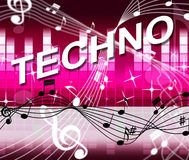 Techno Music Represents Sound Track And Audio Stock Images