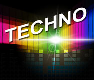 Techno Music Shows Sound Track And Audio Stock Images