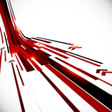 Techno noire et rouge de vecteur abstrait de perspective Photos stock