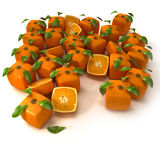 Techno oranges Royalty Free Stock Image