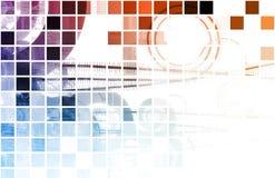 Techno orgánico ilustración del vector