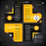 Techno orientering med 4 alternativ Arkivfoton