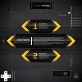 Techno orientering med det huvudsakliga temabanret och två alternativ Arkivfoton