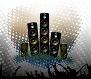 Techno party background Stock Photo