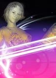 Techno partyjnej dziewczyny stylowy plakat Zdjęcie Royalty Free