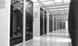 Techno room. Hardware in the server room Stock Images