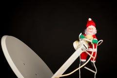 Techno-Santa stock image