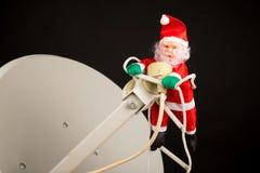 Techno-Santa royalty free stock photography