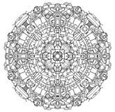 Techno Sci-fi Mandala Royalty Free Stock Image