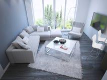 Techno sitting room trend Stock Photo