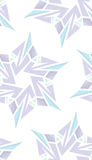Seamless Techno Snowflake Shapes Royalty Free Stock Images