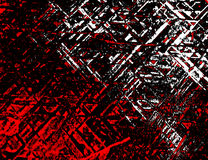 Techno Stone, Red n Black (Texture, Background) Royalty Free Stock Images