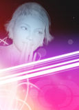 Techno style party girl poster Royalty Free Stock Photography