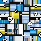 Techno style seamless pattern. Royalty Free Stock Image