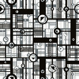 Techno style seamless pattern, vector creative design background Royalty Free Stock Photography