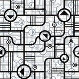 Techno style seamless pattern. Stock Image
