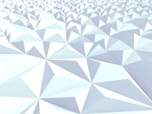 Techno Triangular Chaotic Poligon Background. 3d Render Illustration royalty free illustration