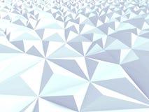 Techno Triangular Chaotic Poligon Background. 3d Render Illustration Royalty Free Stock Photos