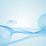 Techno vector abstract background with soft lines. Royalty Free Stock Photo