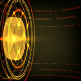 Techno Vector Circle Abstract Background. Techno Vector Circle Abstract Orange Background Stock Photo