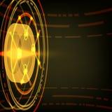 Techno-Vektor-Kreis-Zusammenfassungs-Hintergrund Stockfoto