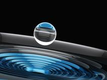 Techno Water Drop Stock Photo